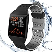 Fitness Tracker HR,Smart Watch Activity Tracker with Pedometer Step Calorie Counter Sleep Monitor For Android