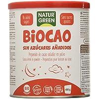 Naturgreen Biocao contenido reducido de azúcares Bio 400 g-Pack de 3 unidades de 400gr