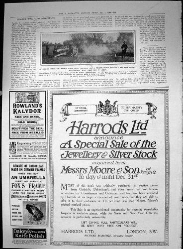 Artillerie Männer Mit Gewehr-Vorgang Harrods-Verkaufs-Schmuck-Silber 1914