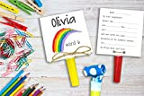 Regenbogen Einladung Kindergeburtstag inkl. Party Tröte