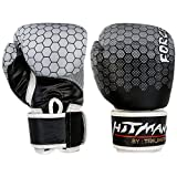 Hitman By Triumph Force Printing Black ( BX-24-1 ) PU Boxing Gloves