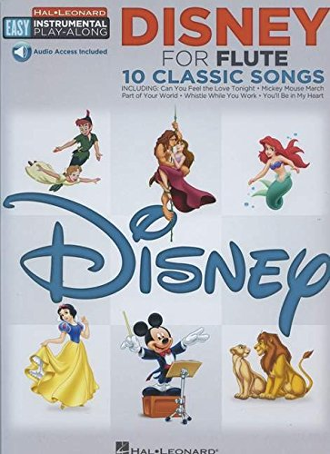 Flute Easy Instrumental Play-Along: Disney (Book/Online Audio) (Hal-leonard Easy Instrumental Play-along)