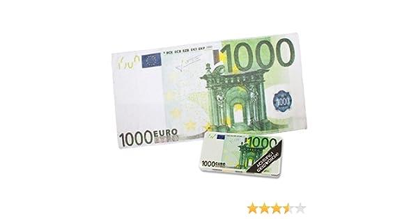 Strandtuch 500 Euro Schein Saunatuch Badetuch Handtuch Mikrofaser Banknote Geld