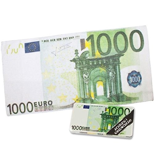 100 EURO TUCH Magic Handtuch € 1000 Schein Trick