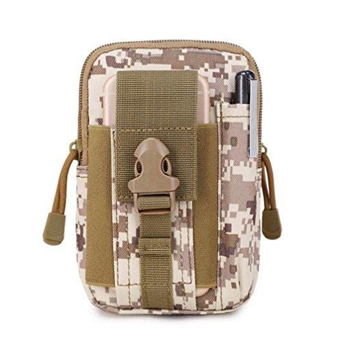YOEEKU Outdoor Reisen Sport Taktische Tasche Bauchtasche, Gürteltasche Handytasche Tasche Waist Bag-Multifunktional für Camping Reise Wandern (Kaffee) (Dakine-leder-gürtel)