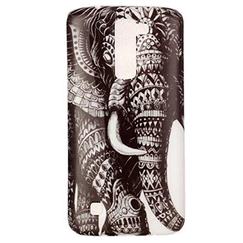 HUANGTAOLI Custodia in Silicone Morbida TPU Protettiva Case Cover per LG K8 Smartphone,Display 5.0 Pollici(LG K350N)