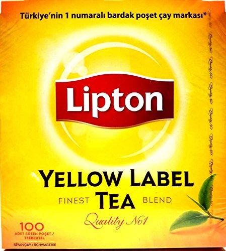 4 x 100 Teebeutel Lipton Yellow Label Tee - Schwarztee (600g) - Lipton 100 Teebeutel