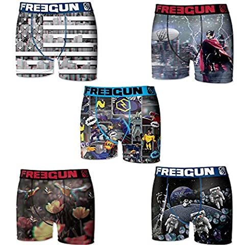 Lot 5 Boxers Freegun Collection (8 - 10 Ans) fg17