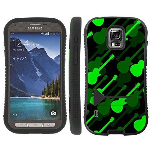 [ArmorXtreme] Hybrid ShockProof Armor KickStand Case (Guitar Camo Green) for Samsung Galaxy S5 ACTIVE G870A