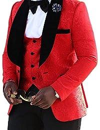 Mens Three Piece Wedding Prom Tuxedo Suit Prom Party Suit Jacket Vest Pants