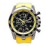 Sannysis® Sport Luxury analógica Moderno hombres reloj de pulsera(amarillo)