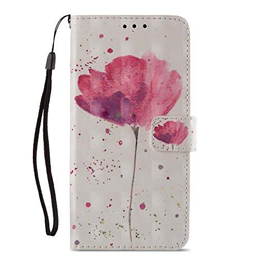 Moto E4 Leder Brieftasche - Motorola E4 Schutzhülle,Katech Flip Kartenfächer - Standfunktion Luxuriös 3D Relief Glitzer Entwurf Bunte PU Leder Wallet Hülle Case für Motorola Moto E4 + 1 x Ständer