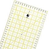 OfficeTree® Universal-Lineal Patchwork- Quilt- Rollschneider-Lineal - Nähen Basteln mit exakten Abmessungen und Zuschnitten - transparent - 60 cm x 16 cm