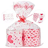 Pamase 2 rotoli di San Valentino Romantica carta igienica - Red Love Heart Stampato Novità carta igienica Regalo divertente bavaglio per San Valentino o anniversario presente
