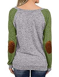 Amazon.it  vestito lungo - Bluse e camicie   T-shirt 3cc709b91d8