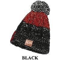 Sombrero de Invierno Auriculares Gorro Invierno Música Inalámbrica  Bluetooth Sombreros con Bola de Piel para Mujer 97c45244917