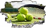 Tennis Tennisball Tennisplatz Wandtattoo Wandsticker Wandaufkleber C0613 Größe 60 cm x 90 cm