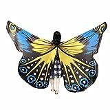 Xmiral Niñas Chal de Alas de Mariposa Impermeable para Baile Danza Chicas Duendecillo para Disfraz Fiesta Carnaval(235 * 170cm,Verde)