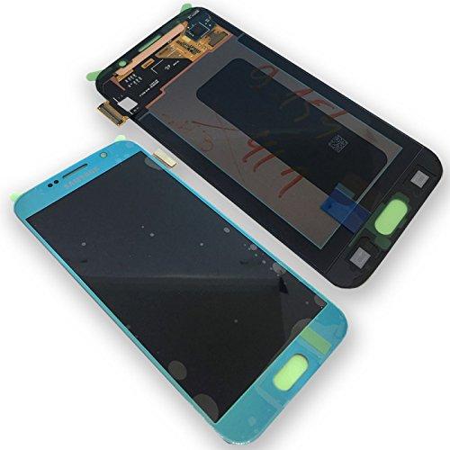 Original Samsung Galaxy S6 SM G920F LCD AMOLED Display Touchscreen Digitizer Blau Topaz Blue Service Ersatzteil OCTA GH97-17260D S6-lcd