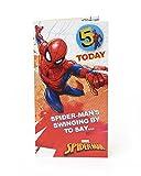 Carlton 553167–0- 2,5cm Disney Spiderman minimum 12,7cm carte d'anniversaire avec badge...