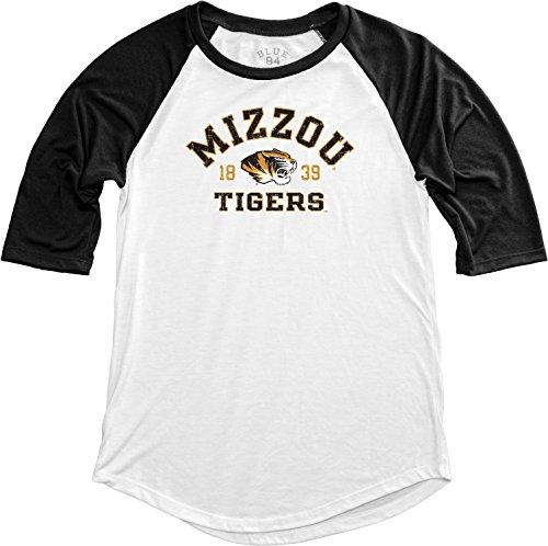 Blue 84 NCAA Missouri Tigers NCAA Damen Baseball-T-Shirt, Größe M, Schwarz -