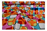 Fabrics-City WEIß/BUNT EDEL BI-STRETCH VISKOSEJERSEY STOFF