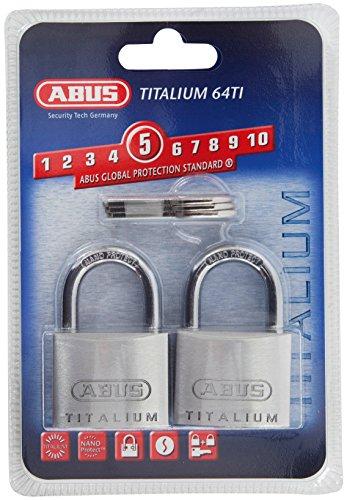 ABUS 64ti/40 Titalium Padlock 40mm Twin Pack