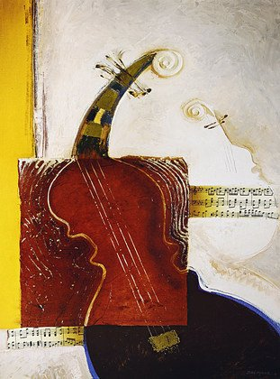 Bremand Poster Kunstdruck Bild La valse des violons 80x60cm