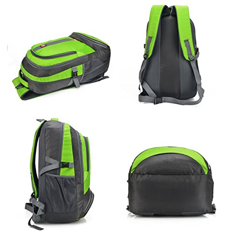 der rucksack kleine outdoor - sport - großen raum erholung tragbare packung klettern wander - ritt tasche 3colors reisen H56 x L35 x T18CM light green