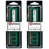 QUMOX 4Go(2x2Go) DDR2 667MHz PC2-5300 PC2-5400 DDR2 667 (240 PIN) DIMM Mémoire pour ordinateur de bureau
