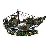 Harz Aquarium Fish Tank Landschaft Simulation Schiffswrack Boot Schiff Dekoration Schreibtisch Dekor Ornament
