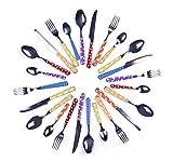 Excelsa Enjoy Servizio 24 Posate, Acciaio Inossidabile, Multicolore