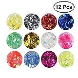 Frcolor DIY Nail Art Glitter Flakes schrittweise wechselnde Farbe Charms Nagelspitzen Dekorationen (zufällige Farbe)