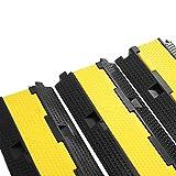 Tecmaqui Pasacables de Suelo para Proteger las Cables de 2 Vías Protector de PVC y Caucho para Cable de Suelo Soporta 11000 LB(5000KG) (3x2 vías)