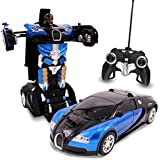 X Zini Biggest Remote Controller Battery Operated Converting Car To Robot, Robot To Car Automatically,Transformer Toy, With Light And Sound For Kids.