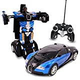 #5: X Zini Biggest Remote Controller Battery Operated Converting Car to Robot, Robot to Car Automatically,Transformer Toy, with Light and Sound for Kids.