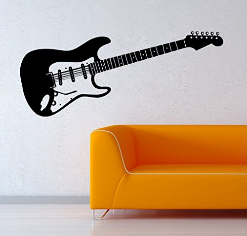 Decor Villa Play Guitar Wall Decal And Sticker Black Color Large Size- 109*45 Cm  available at amazon for Rs.549