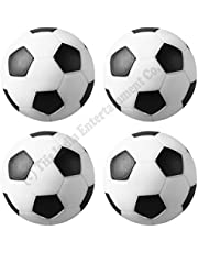 Play In The City Tifs India 32 mm Foosball Soccer Table Balls (Black, for 4ft Tables) -4 Pieces