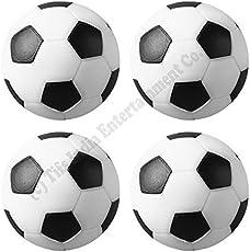 Play In The City Foosball Balls, 36mm (Black, TIFS 004)-Set of 4