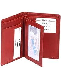 Porte-cartes pour pièce d'identité LEAS, cuir véritable, cherry - ''LEAS Card-Collection''