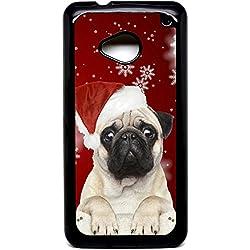 HTC One (M7) de CARLINO de Navidad diseño de regalo de Navidad de Papá Noel carcasa secret