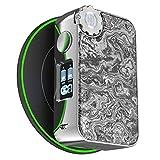 Vapemons Gearbox 222W Batterie Mod. Batterie E-Cigarette/E-Shisha Mod, sans vaporisateur, sans batterie 18650, sans nicotine ni liquide, argent