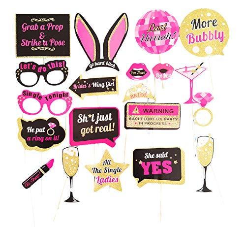 GCFIYPP Hen Party Zubehör Braut 20 PCS Photo Booth Requisiten für Hen Do Party Oder Junggesellenabschied Spiel Sein