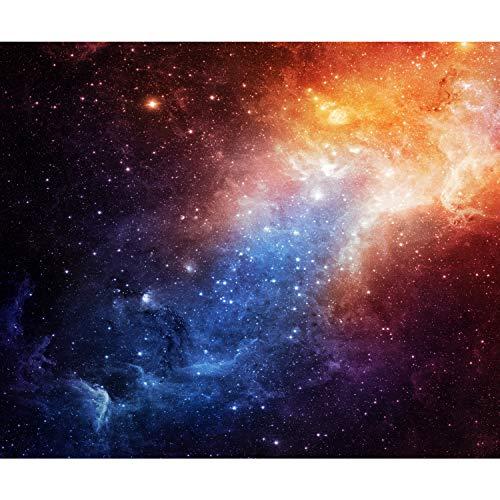 decomonkey Fototapete Kosmos 400x280 cm XXL Design Tapete Fototapeten Vlies Tapeten Vliestapete Wandtapete moderne Wand Schlafzimmer Wohnzimmer Sterne Himmel