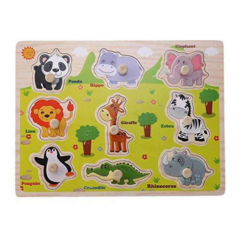 JOOFFF Tier-Puzzle aus Holz, Obst, Gemüse, Bauernhof, Tier, Wald, Tier-Puzzle - klassisches Lehr-Spielzeug - Lern- und Lerngeschenk für Kinder