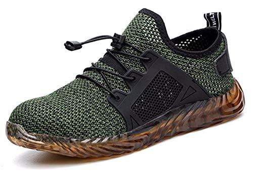 COOU Scarpe Antinfortunistiche Estive Antiscivolo S3 Scarpe da Lavoro con Punta in Acciaio Sneaker da Lavoro Leggere Uomo Donna