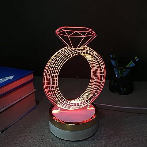 Acrilico lampada luce notturna led luce Nordic legno creativo semplicità animali regalo creativo, 160* 220mm e - Medio Dei Dipendenti Regalo