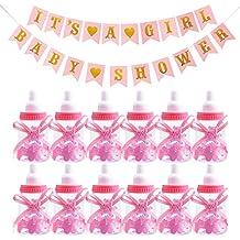 WENTS Botella Cajas Dulces Porta Confeti Regalo Guirnalda de Letras Baby Shower para Nacimiento Bautizo Bautismo