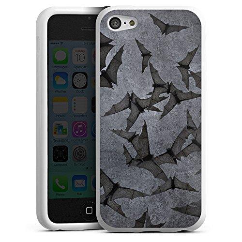 DeinDesign Silikon Hülle kompatibel mit Apple iPhone 5c Case Schutzhülle Fledermaus Bat Vampir (Bat 5c Phone Case)