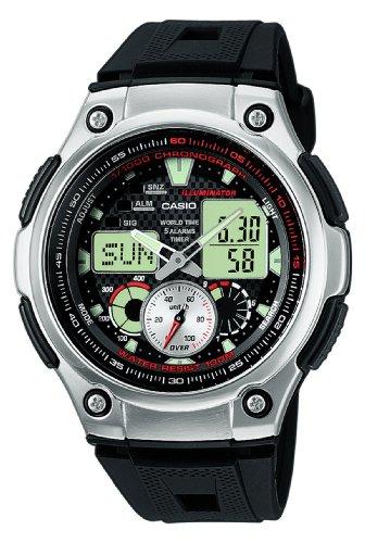 CASIO Casio Collection AQ-190W-1AVEF - Reloj de Caballero de Cuarzo, Correa de Resina Color Negro con...